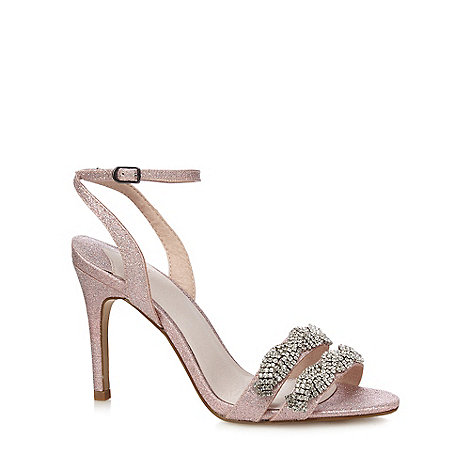 Faith - Pink glitter +Dash+ high stiletto heel ankle strap sandals