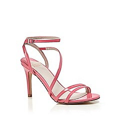 Faith - Pink patent 'Dilly' high heel wide fit ankle strap sandals