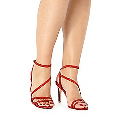 Faith - Orange patent 'Dilly' high sandals