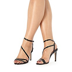 Faith - Black patent 'Dilly' high sandals