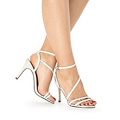 Faith - White patent 'Dilly' high sandals