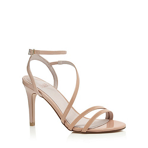 Faith - Cream patent +Dilly+ high heel wide fit ankle strap sandals