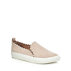 Faith - Pink suedette 'Kenny' slip on trainers