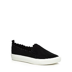 Faith - Black suedette 'Kenny' slip on trainers