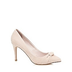 Faith - Cream suedette 'Claudia' high stiletto heel pointed shoes