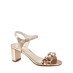 Faith - Rose gold 'Dido' embellished sandals