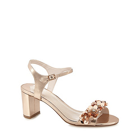 Faith - Rose gold +Dido+ embellished sandals