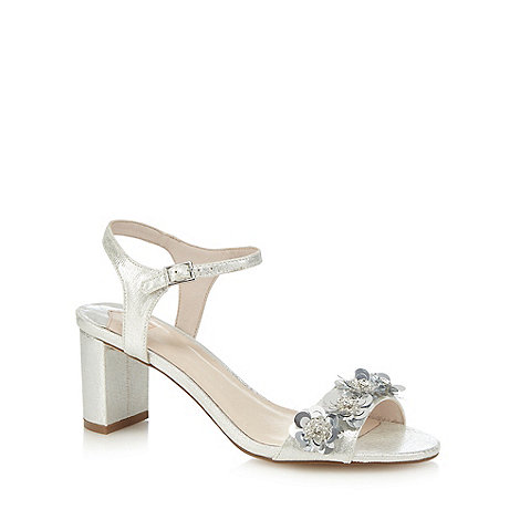 Faith - Silver +Dido+ mid block heel ankle strap sandals