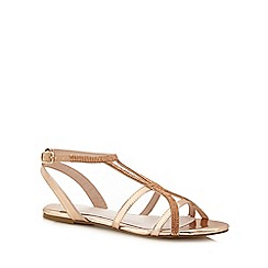 Faith - Rose gold diamante 'Jimi' ankle strap sandals