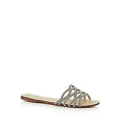 Faith - Silver 'Joy' flat flip flops