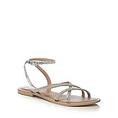 Faith - Silver 'Jambo' flat sandals