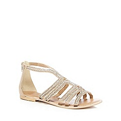 Faith - Silver diamante 'jiji' T-bar sandals