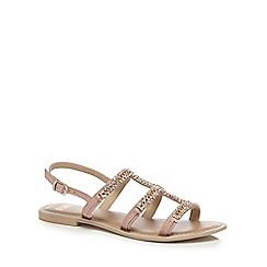 Faith - Light pink diamante 'Jordan' T-bar sandals