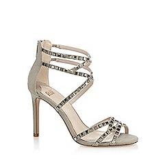 Faith - Grey 'Leigh' high stiletto heel ankle strap sandals sandals