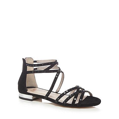 Faith - Black +Jessica+ ankle strap sandals