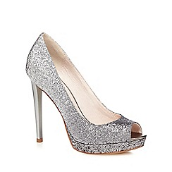 Faith - Silver 'Cassie' ombre glitter high court shoes