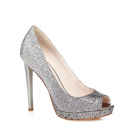 Faith - Silver +Cassie+ ombre glitter high court shoes