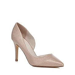 Faith - Pink 'Cliff' high heel wide fit pointed shoes