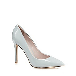 Faith - Blue patent 'Chloe' high stiletto heel pointed shoes