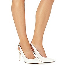 Faith - Ivory 'Carmen' high stiletto heel slingbacks
