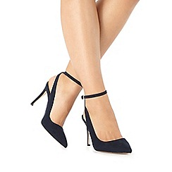 Faith - Navy 'Canyon' wide fit high court shoes