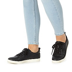 Faith - Black 'Karla' lace up trainers