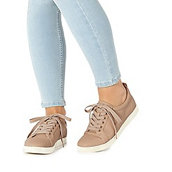 Faith - Taupe 'Karla' lace up trainers