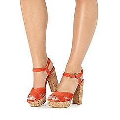 Faith - Orange 'Leela' high sandals