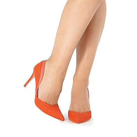 Faith - Orange +Camilla+ wide fit court shoes