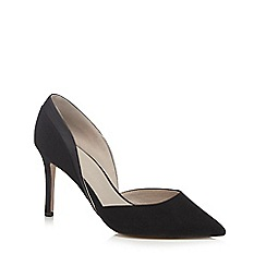 Faith - Black suedette 'Camilla' high heel wide fit court shoes