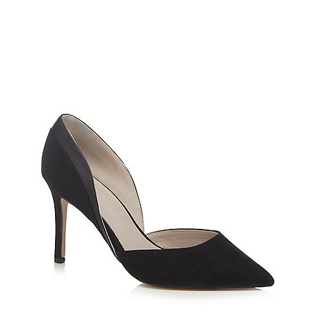 Faith - Black suedette +Camilla+ high heel wide fit pointed shoes