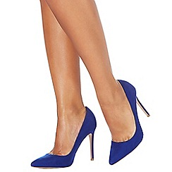 Faith - Blue 'Chloe' high stiletto heel pointed shoes