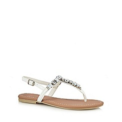 Faith - White 'Jemima' ankle strap sandals