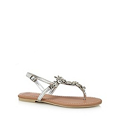 Faith - Silver 'Jenson' ankle strap sandals