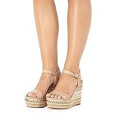 Faith - Natural 'Lily' high wedge sandals