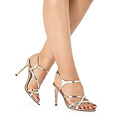 Faith - Rose gold 'Lotus' high sandals