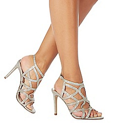 Faith - Gold 'Lisbon' high stiletto heel court shoes