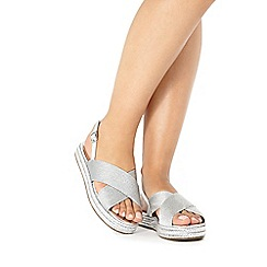 Faith - Silver 'Jilly' slip-on sandals