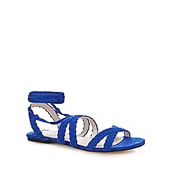 Faith - Blue suedette 'Jude' gladiator sandals