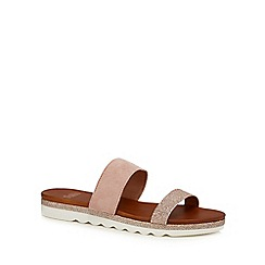 Faith - Pink leather blend 'Jessa' flip flops