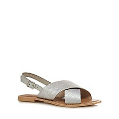 Faith - Silver 'Jake' slingback sandals