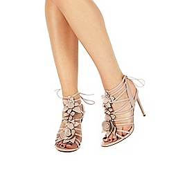 Faith - Light pink leather 'Fab' high stiletto heel ankle strap sandals