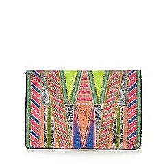 Faith - Multi-coloured 'Francine' bead embellished clutch bag