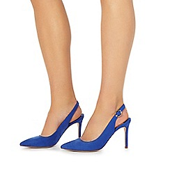 Faith - Blue 'Carmen' high stiletto heel slingback shoes