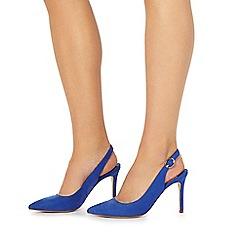 Faith - Blue 'Carmen' high stiletto heel slingback shoes
