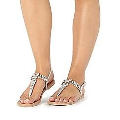 Faith - Silver 'Jelly' sandals
