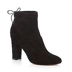 Faith - Black 'Bump' high ankle boots