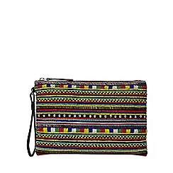 Faith - Multi-coloured 'Peyton' clutch bag