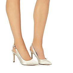 Faith - Ivory satin 'Carmen' high stiletto heel slingback shoes