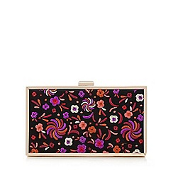 Faith - Multi-coloured floral embroidered clutch bag